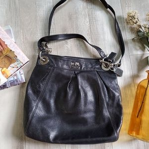 Coach Madison Collection large hobo classic black